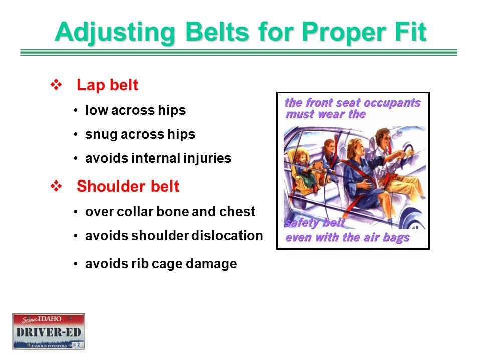 Adjusting Belts for Proper Fit