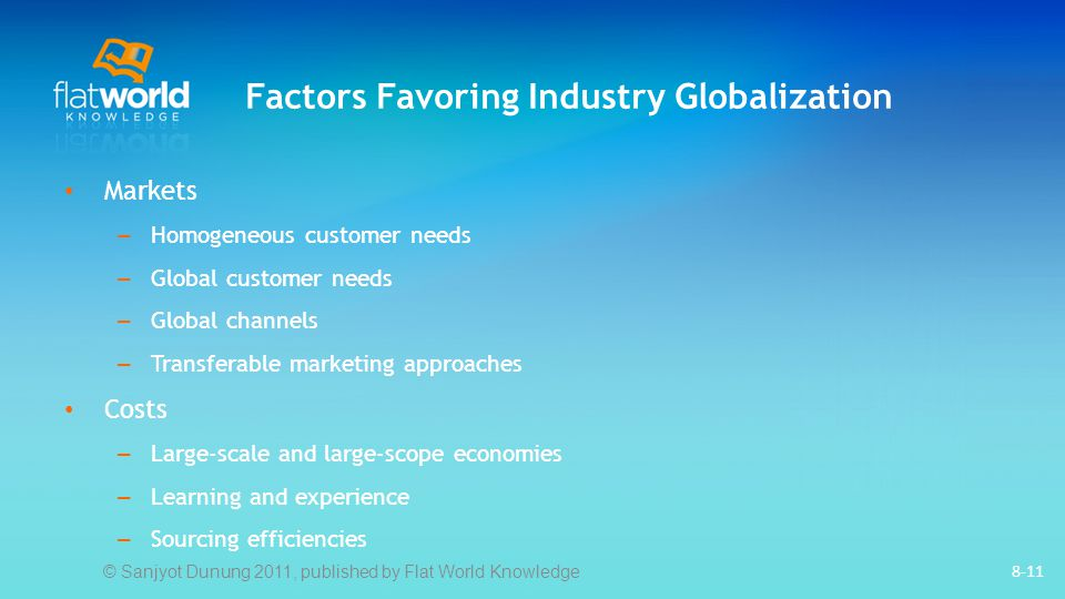 Factors Favoring Industry Globalization