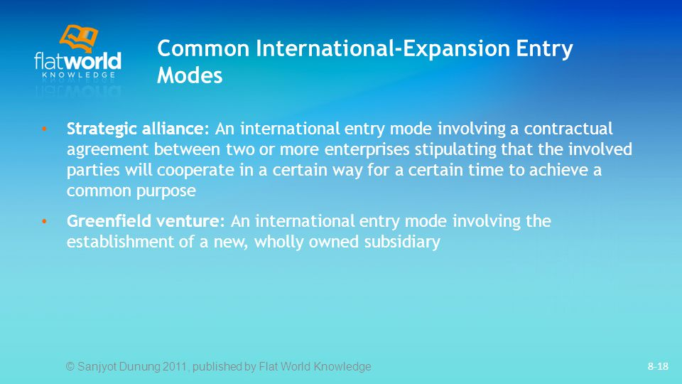 Common International-Expansion Entry Modes