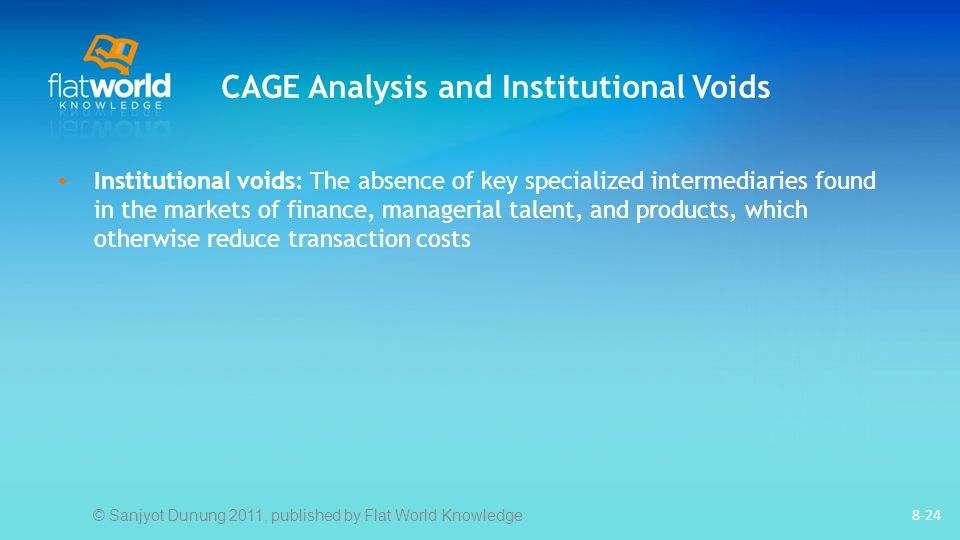 CAGE Analysis and Institutional Voids