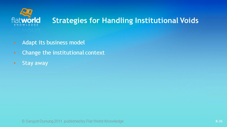 Strategies for Handling Institutional Voids