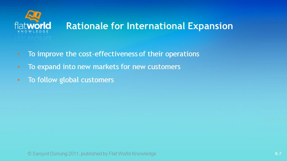 Rationale for International Expansion