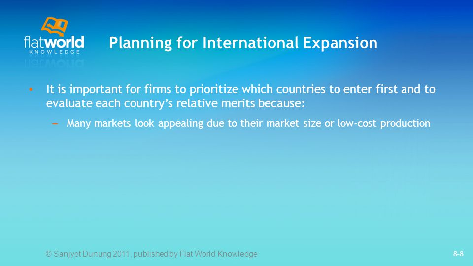 Planning for International Expansion