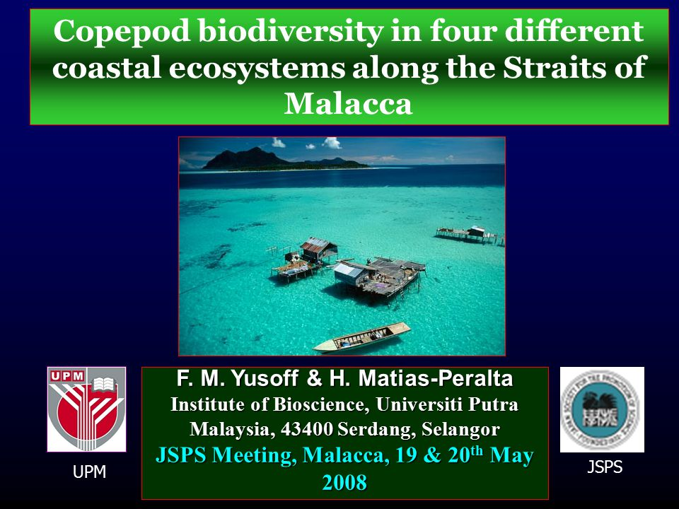 Copepod biodiversity in four different coastal ecosystems along the Straits of Malacca