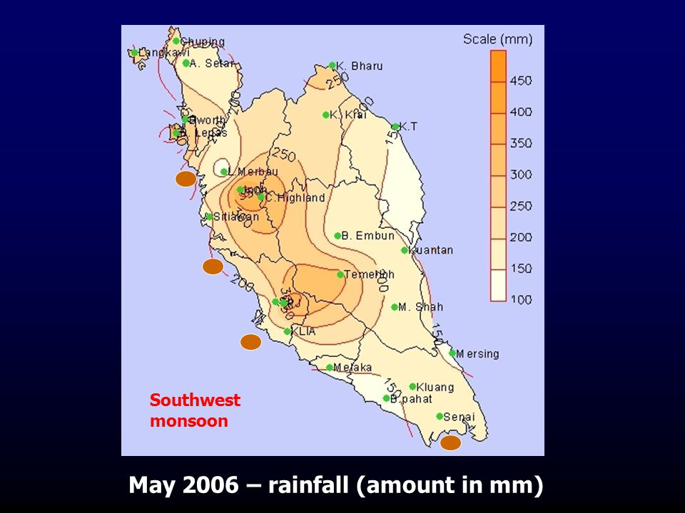 May 2006 – rainfall (amount in mm)