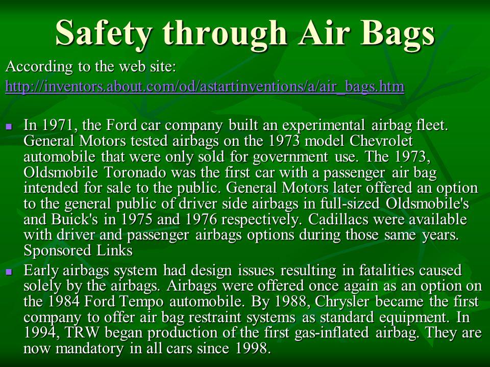 Safety through Air Bags