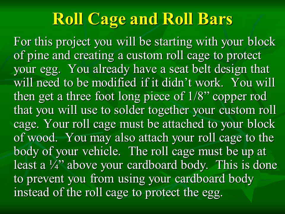 Roll Cage and Roll Bars