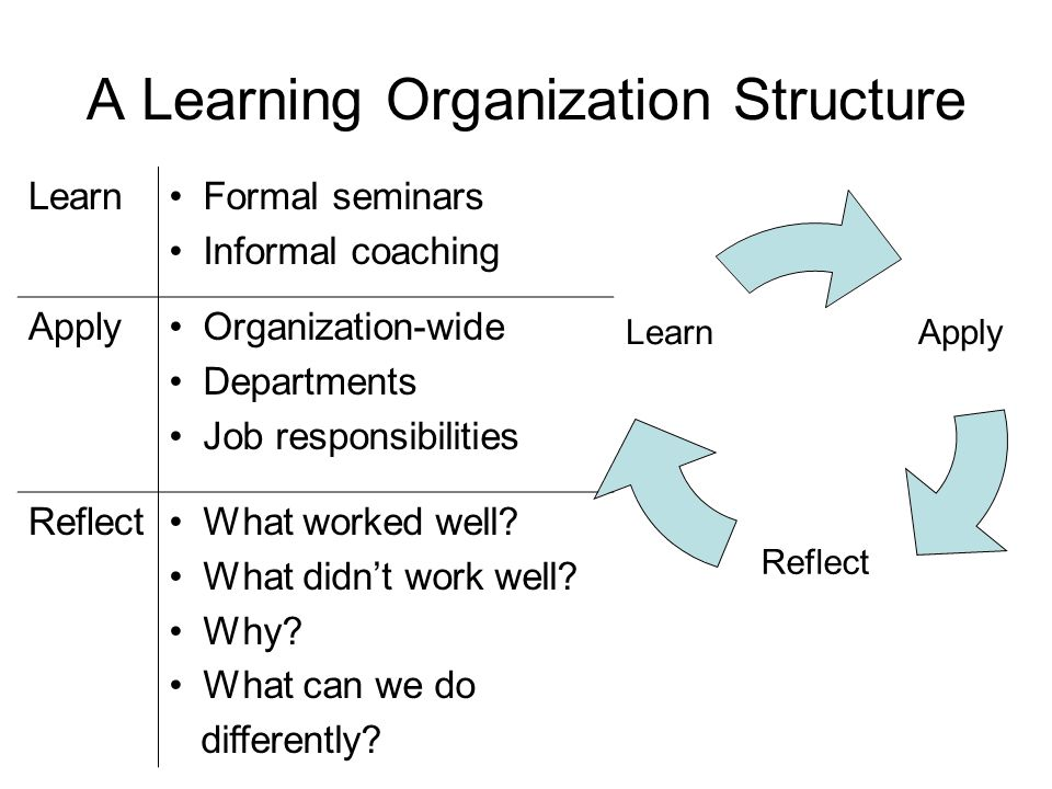 A Learning Organization Structure