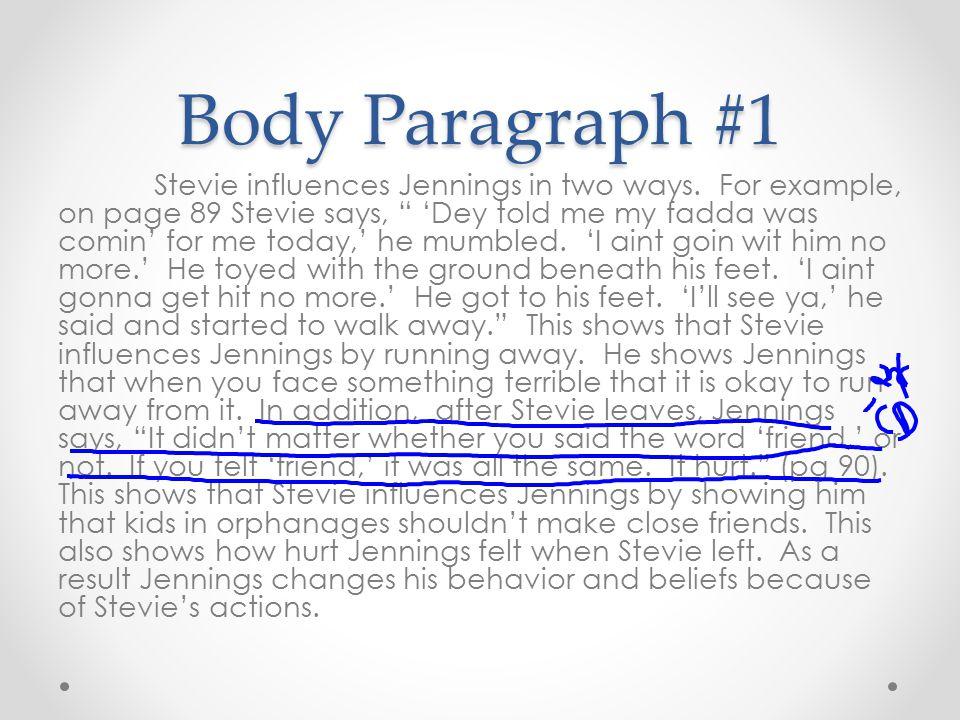 Body Paragraph #1