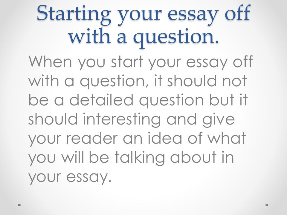 can you start an essay with a definition