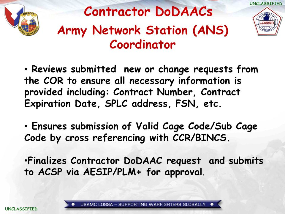 Army Network Station (ANS) Coordinator