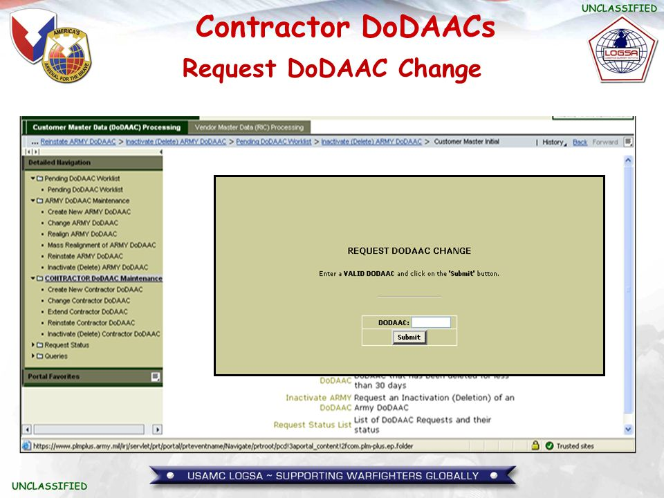 Request DoDAAC Change