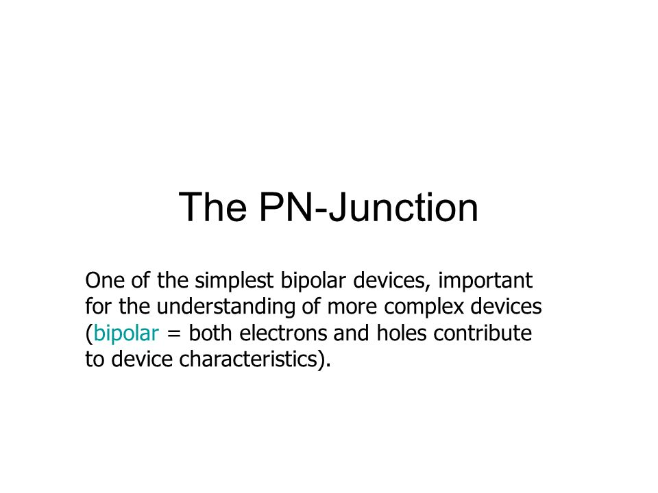 The PN-Junction
