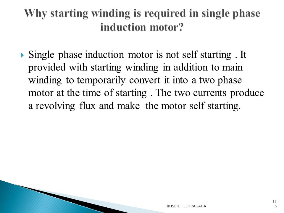 Why starting winding is required in single phase induction motor