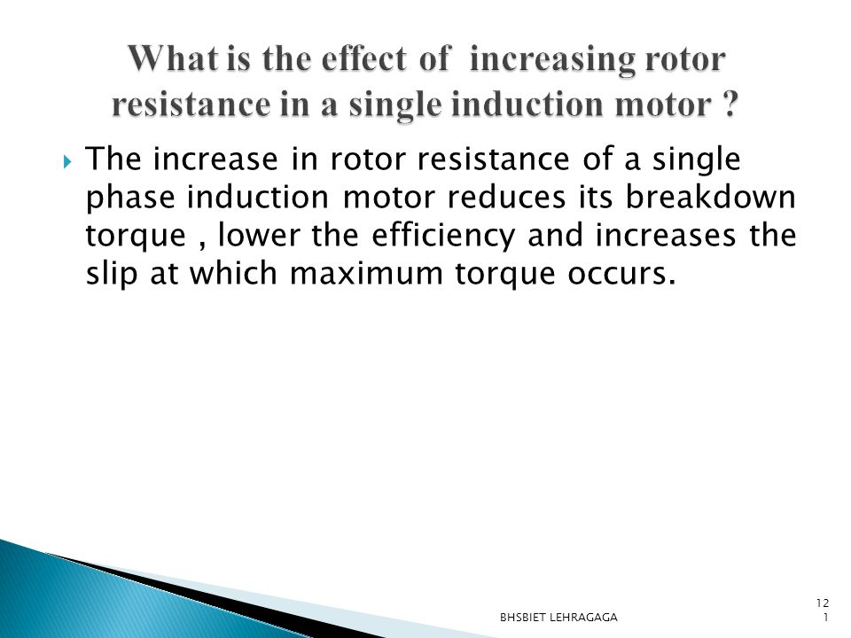 What is the effect of increasing rotor resistance in a single induction motor