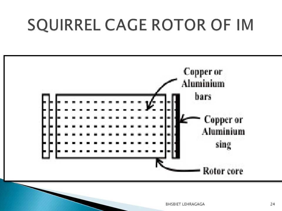 SQUIRREL CAGE ROTOR OF IM