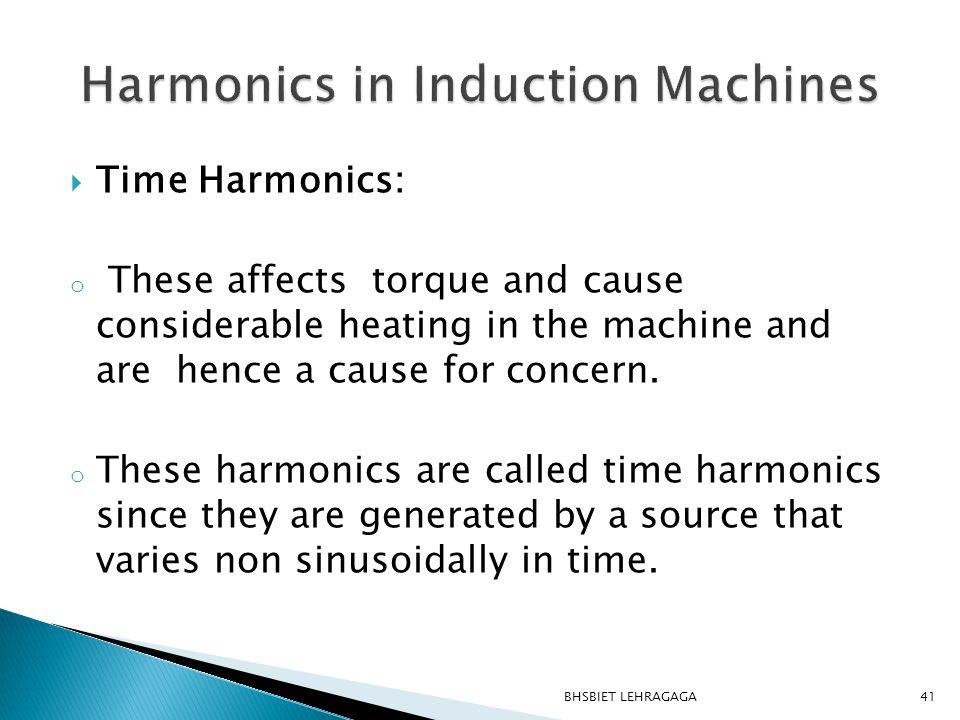 Harmonics in Induction Machines