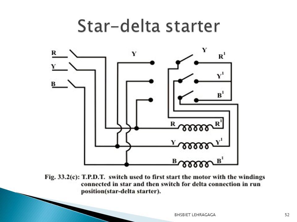 Star-delta starter BHSBIET LEHRAGAGA