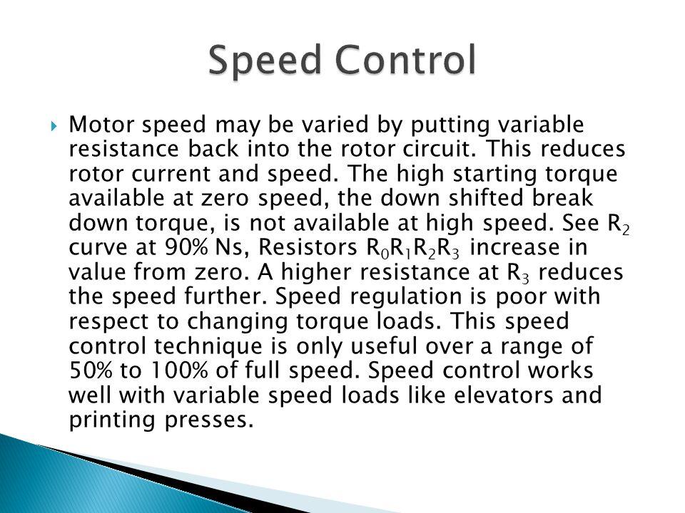 Speed Control