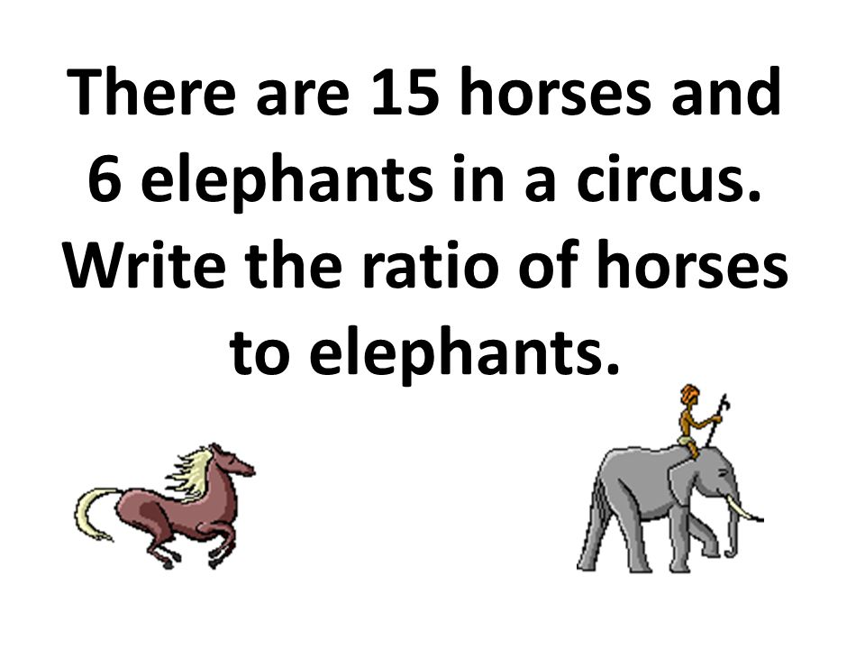 There are 15 horses and 6 elephants in a circus