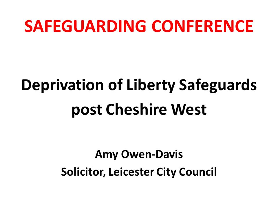 SAFEGUARDING CONFERENCE