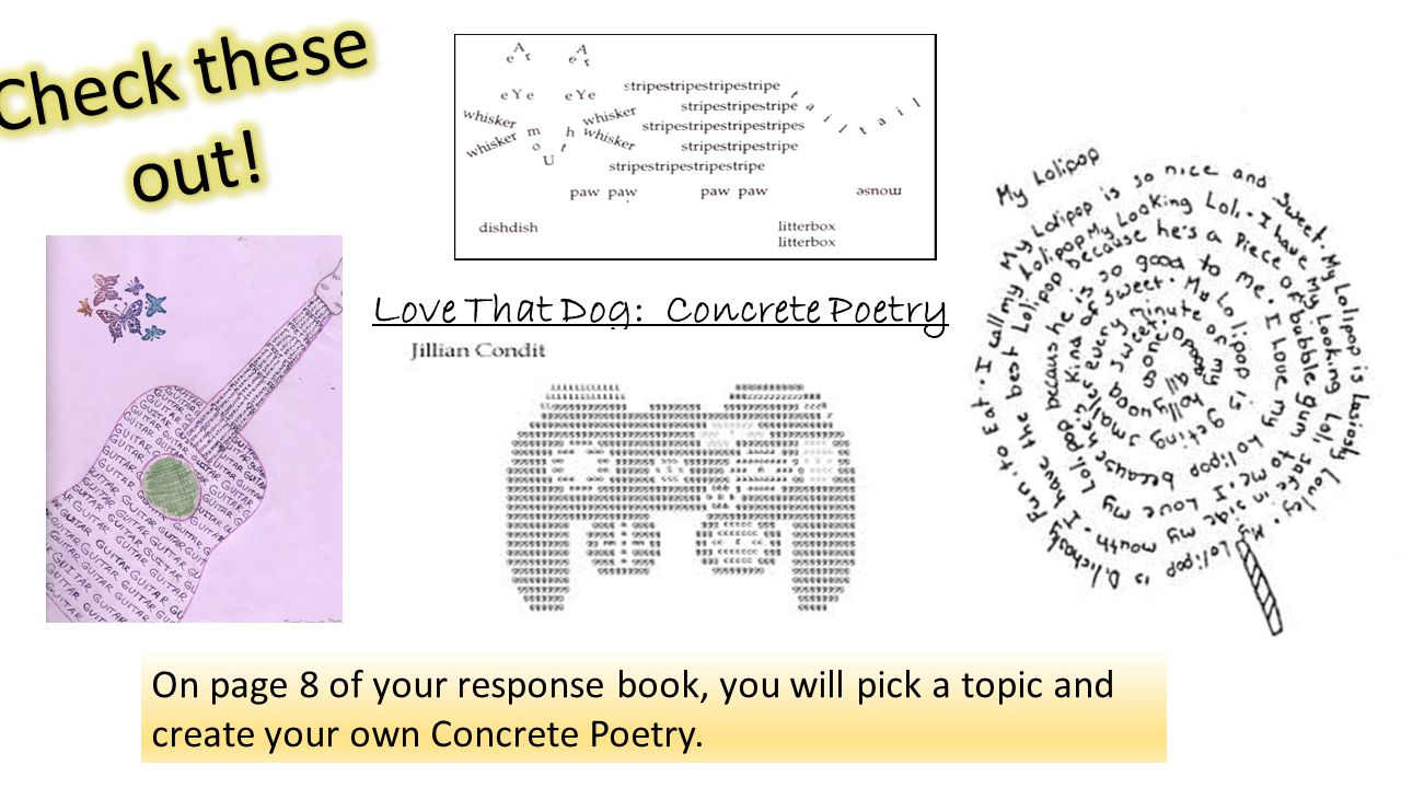 Love That Dog: Concrete Poetry