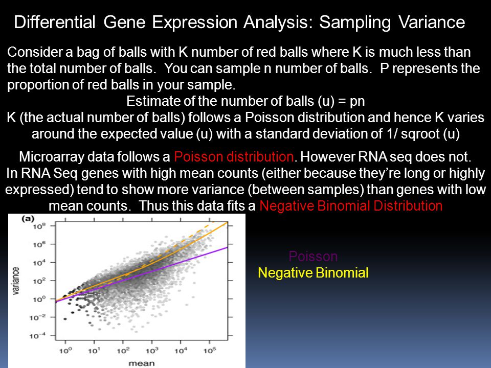 Differential Gene Expression Analysis: Sampling Variance