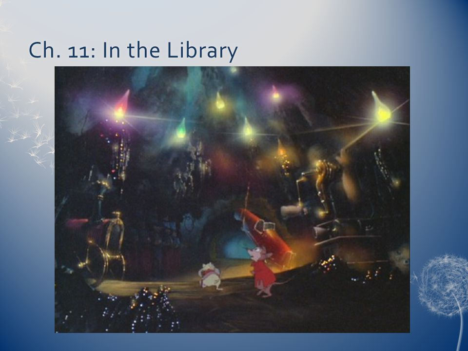 Ch. 11: In the Library