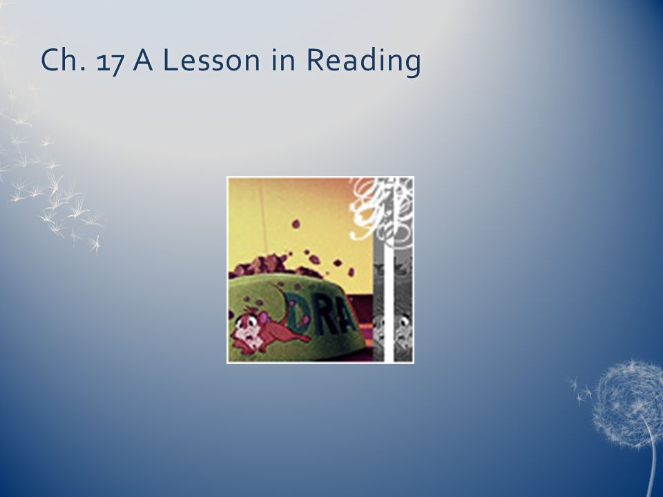 Ch. 17 A Lesson in Reading