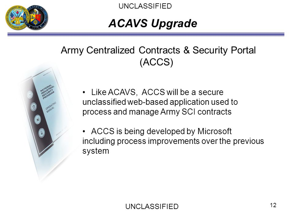 Army Centralized Contracts & Security Portal (ACCS)