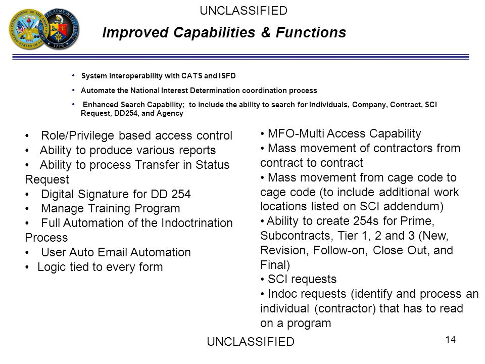 Improved Capabilities & Functions