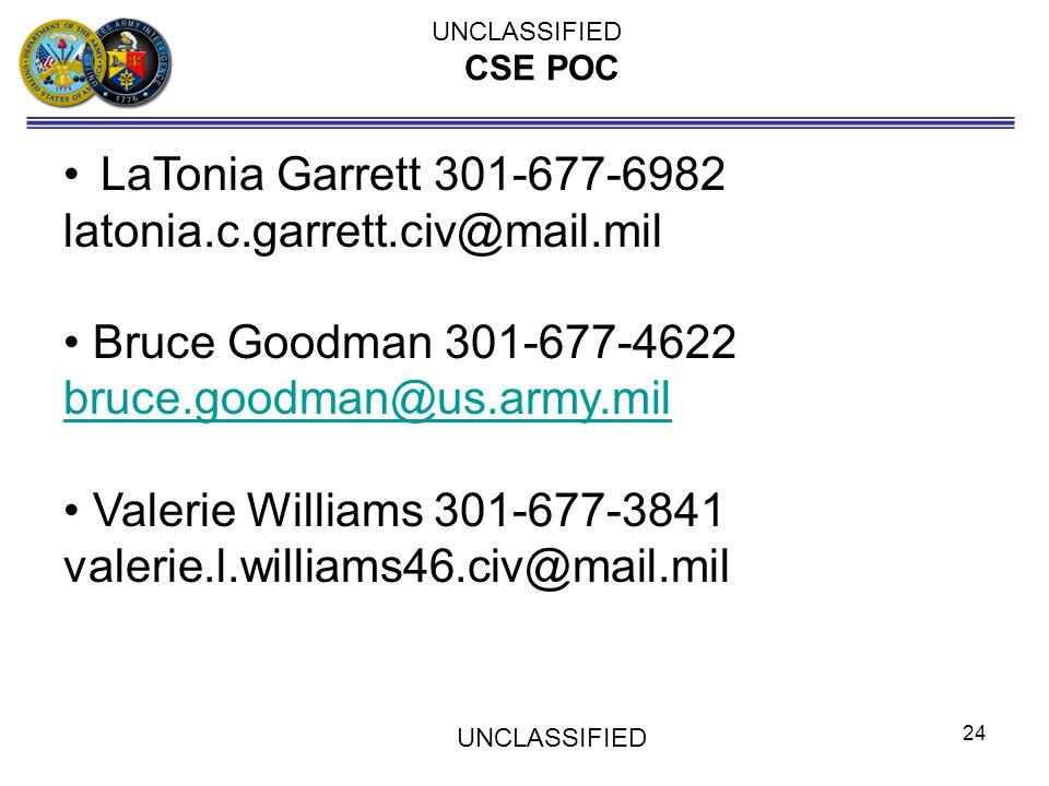 LaTonia Garrett 301-677-6982 latonia.c.garrett.civ@mail.mil