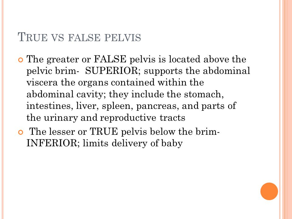 True vs false pelvis