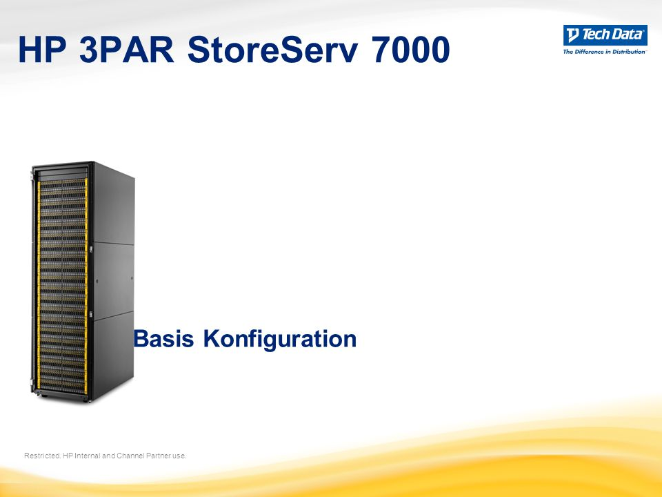 HP 3PAR StoreServ 7000 Basis Konfiguration