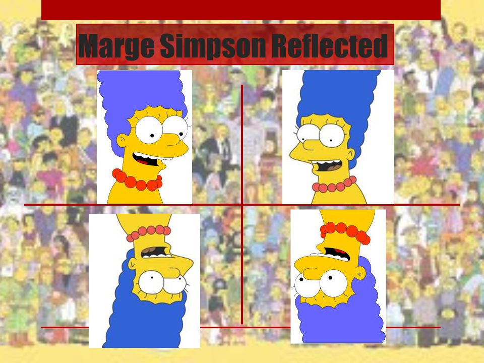 Marge Simpson Reflected