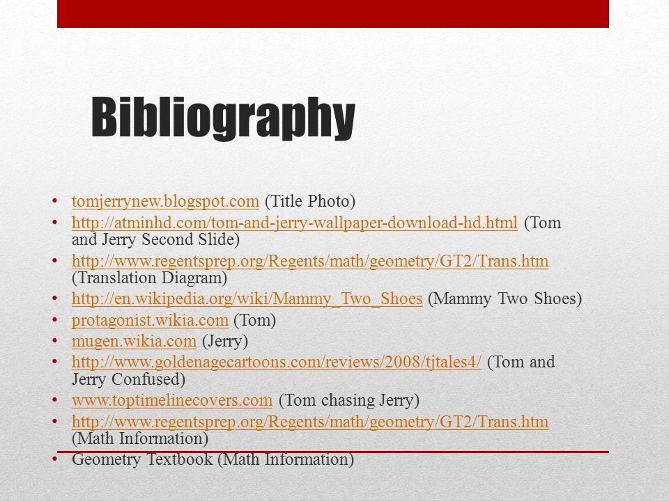 Bibliography tomjerrynew.blogspot.com (Title Photo)