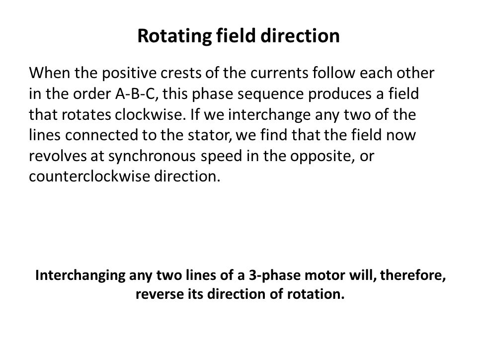 Rotating field direction