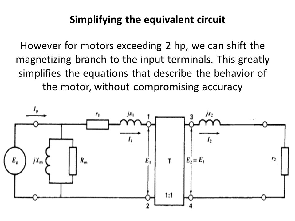 Simplifying the equivalent circuit