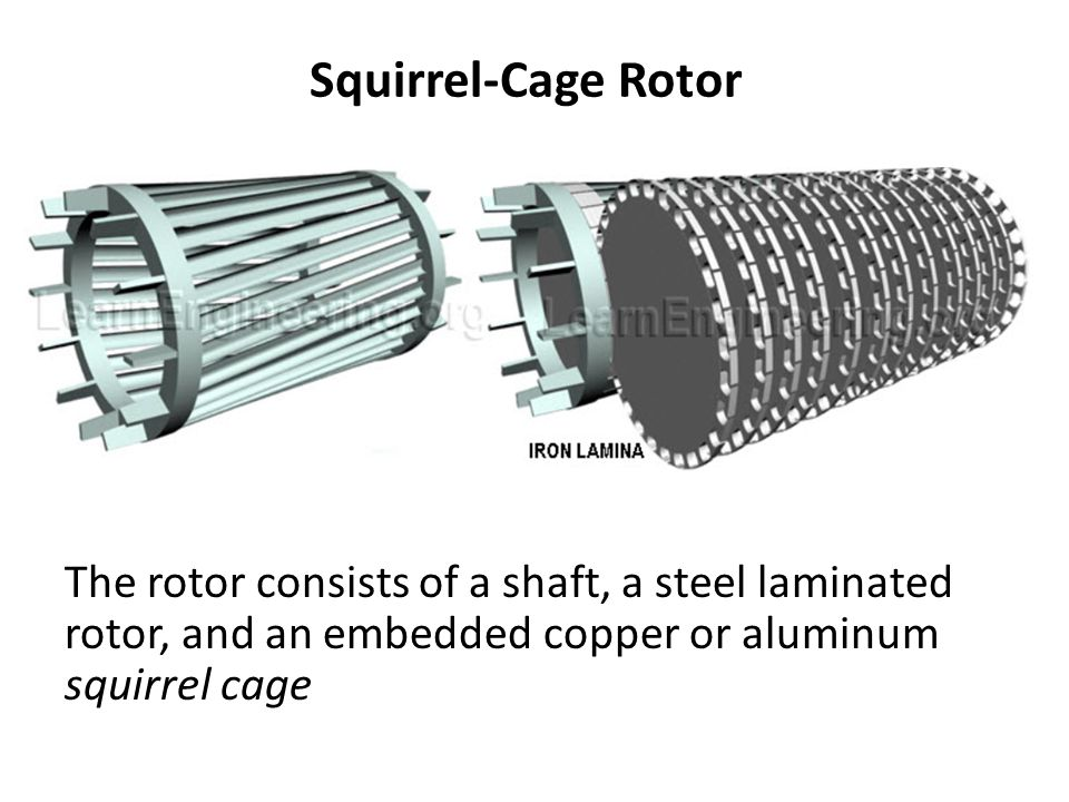 Squirrel-Cage Rotor 2aleb inside aluminium liquid.