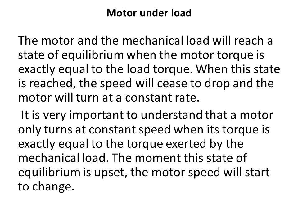 Motor under load