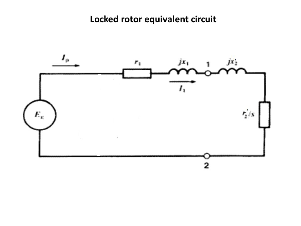 Locked rotor equivalent circuit