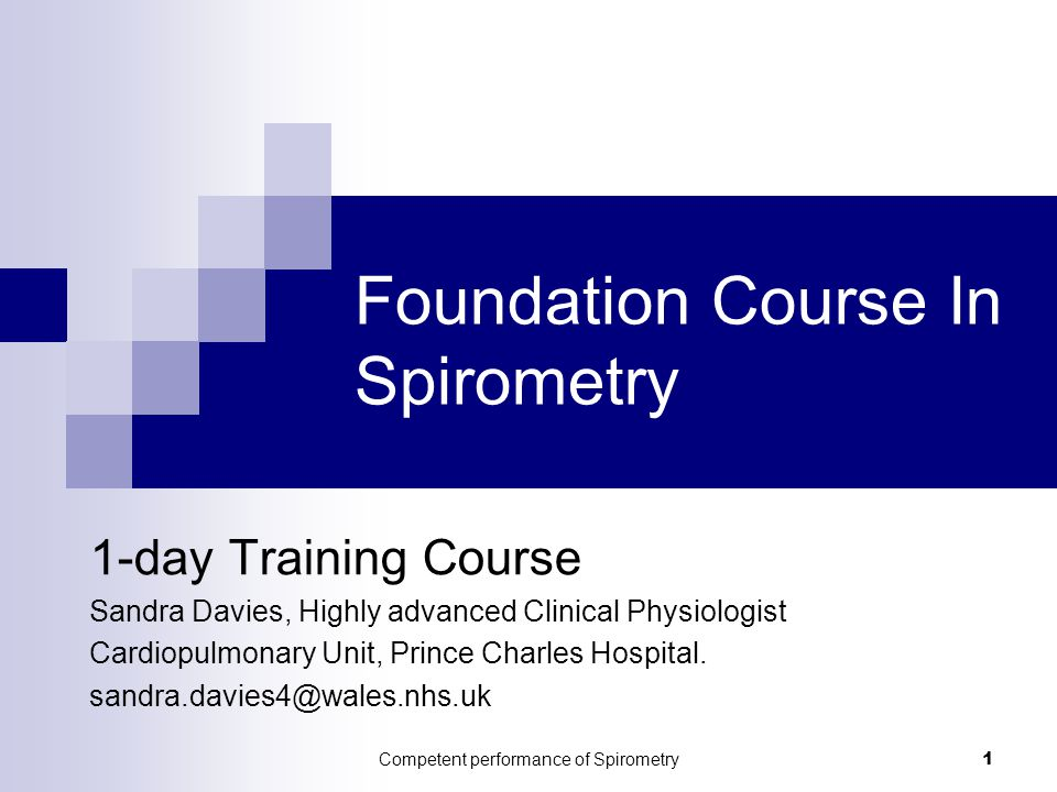 Foundation Course In Spirometry