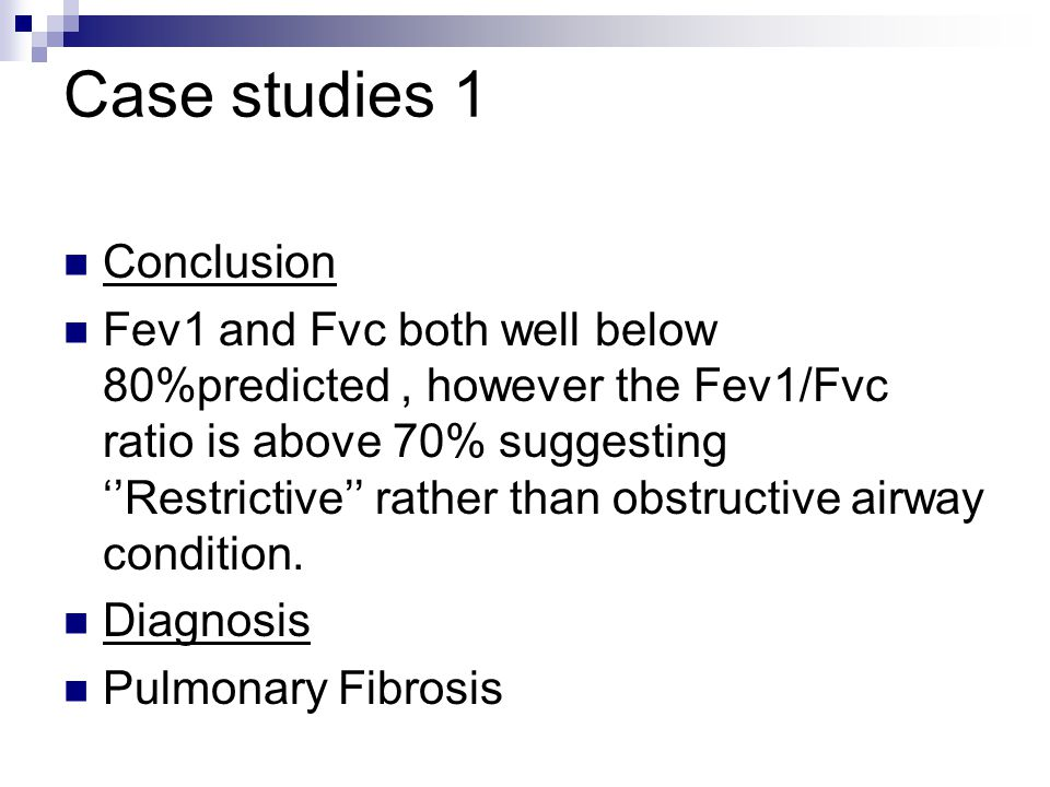 Case studies 1 Conclusion