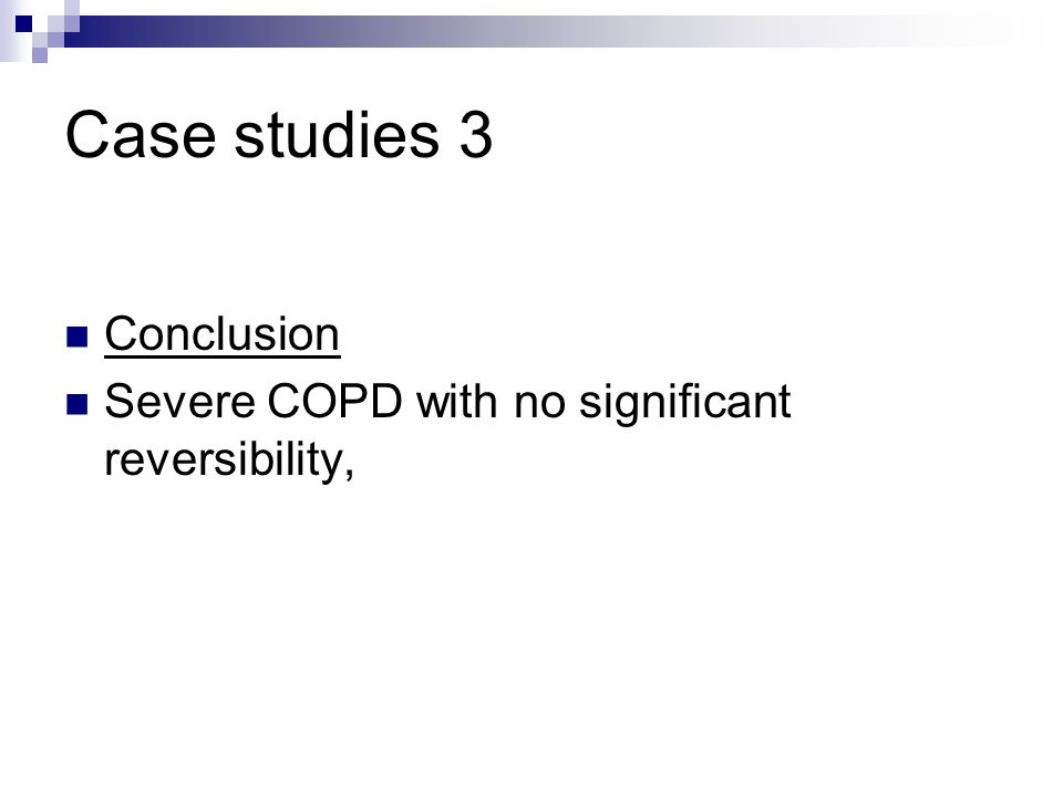 Case studies 3 Conclusion