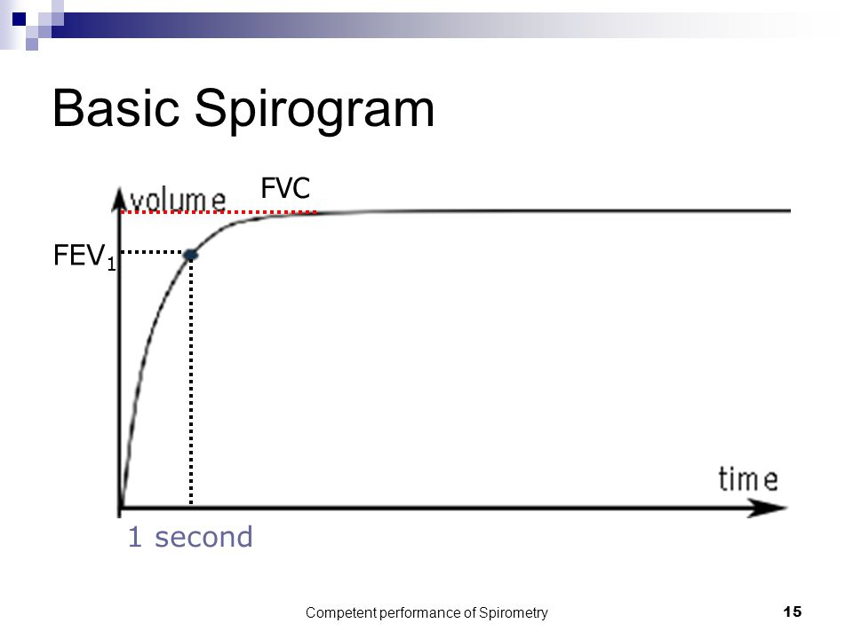 Competent performance of Spirometry