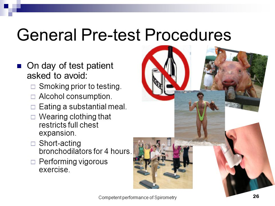 General Pre-test Procedures