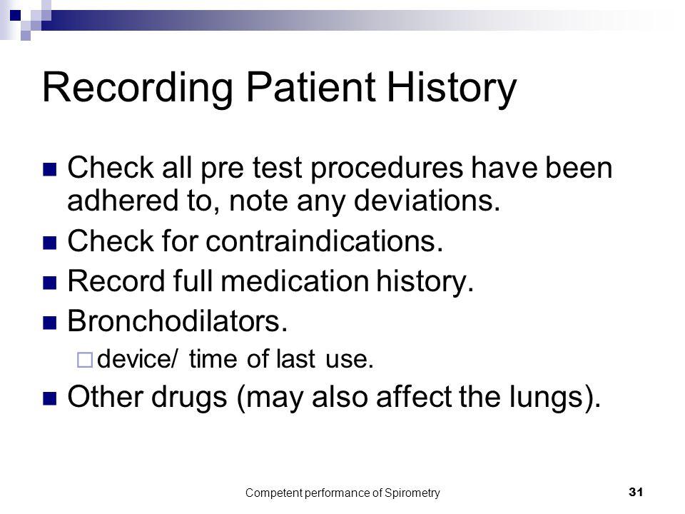 Recording Patient History