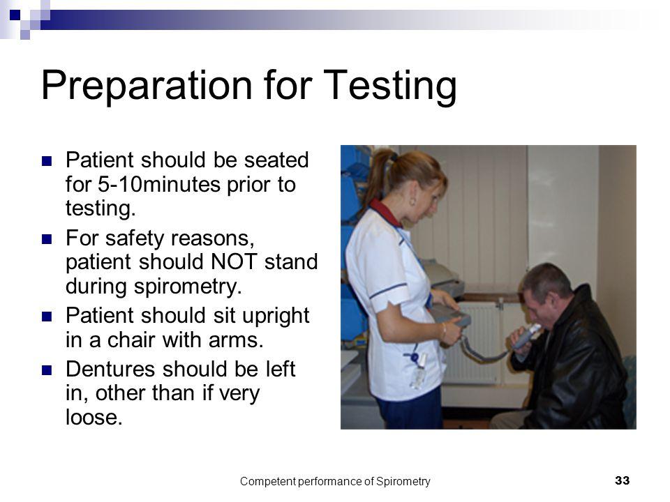 Preparation for Testing