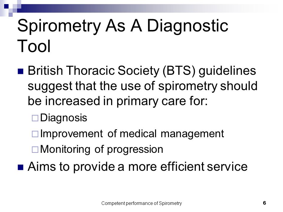 Spirometry As A Diagnostic Tool