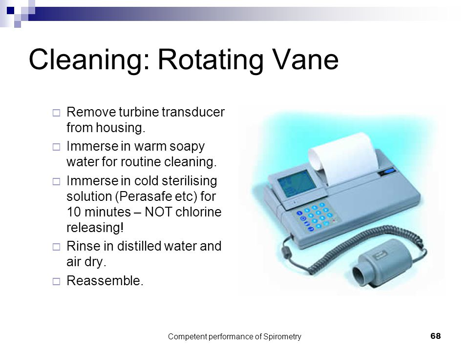 Cleaning: Rotating Vane